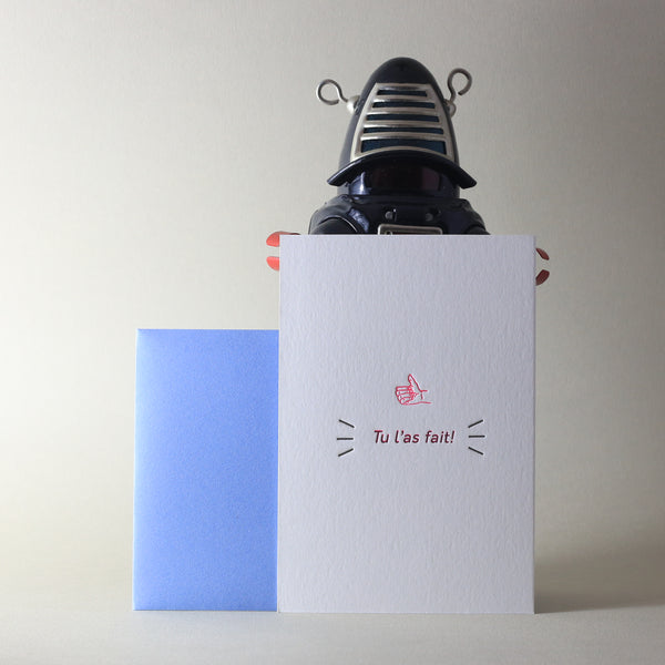 Carte letterpress - Tu l'as fait!