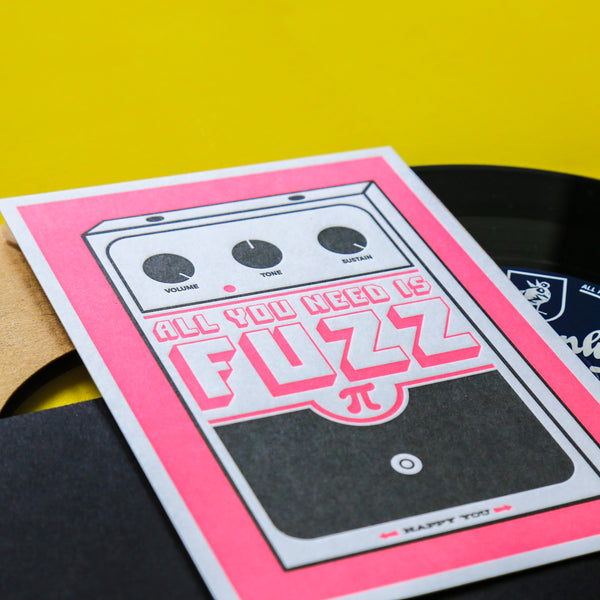Carte letterpress - All you need is Fuzz