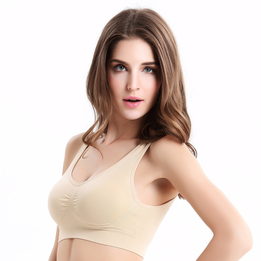 Top Shockproof Crop Tops t-shirt bra
