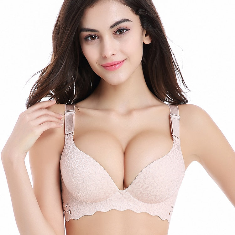 Hollow Out Brassiere Non Padded chest t-shirt bra