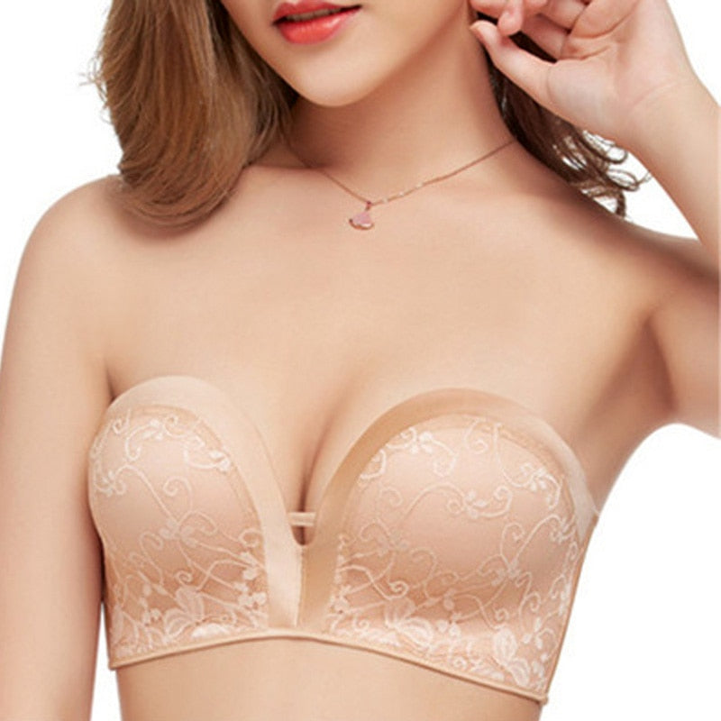 Women Low-cut Invisible Backless Bra