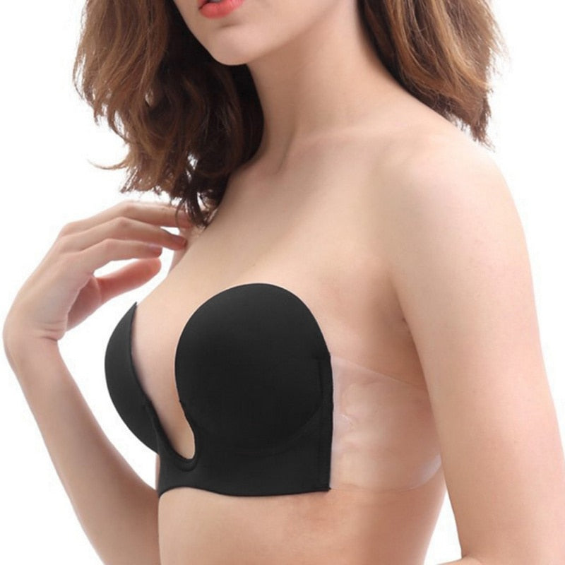 Women's Invisible Push Up Strapless Bra