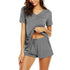 Nightwear Set Women's Casual Solid Shorts