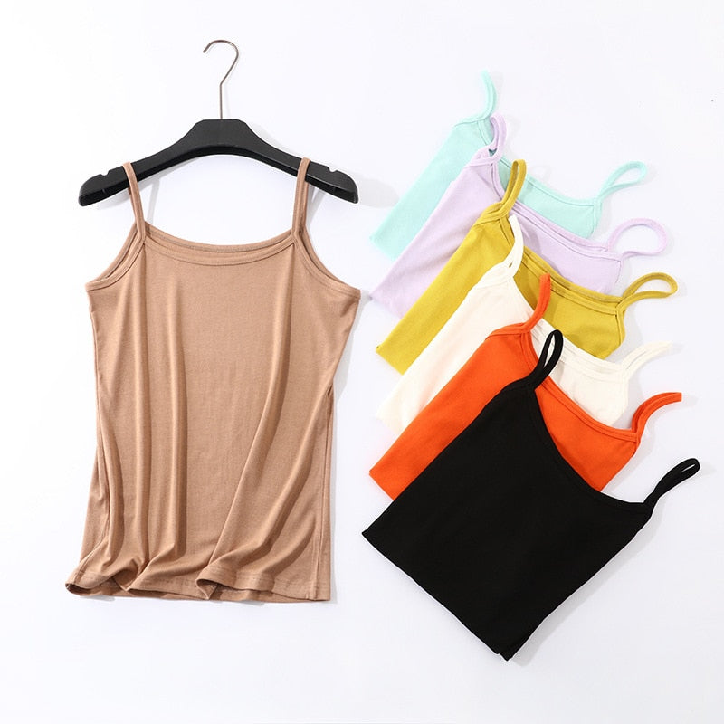 Women Casual Crop Top Summer Tank Tops
