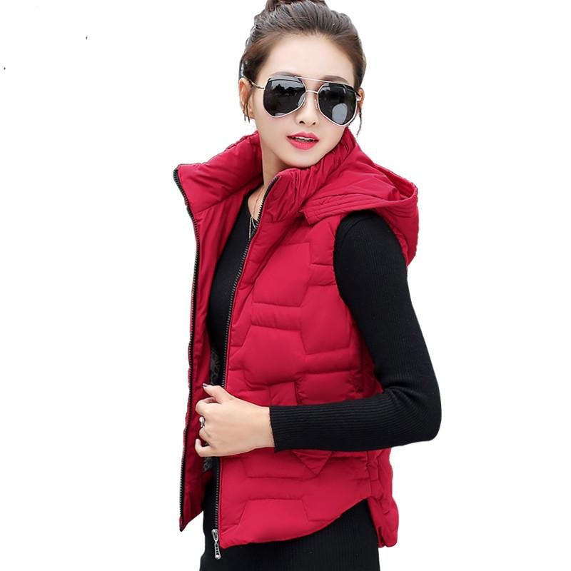 Vest Women Waistcoat Zipper Sleeveless Jacket