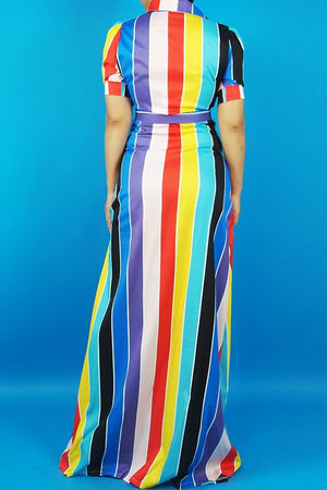 Long Stripe Dress