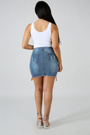 Pride And Joy Rainbow Denim Skirt