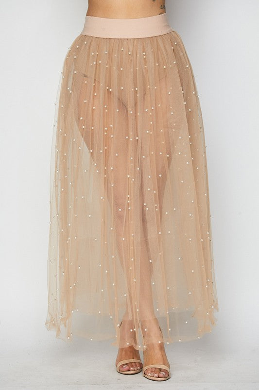 Out Of Touch Mesh Tulle Skirt