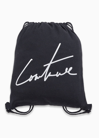 SIGNATURE DRAWSTRING BAG