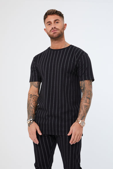 PINSTRIPE NEWBURY TOP