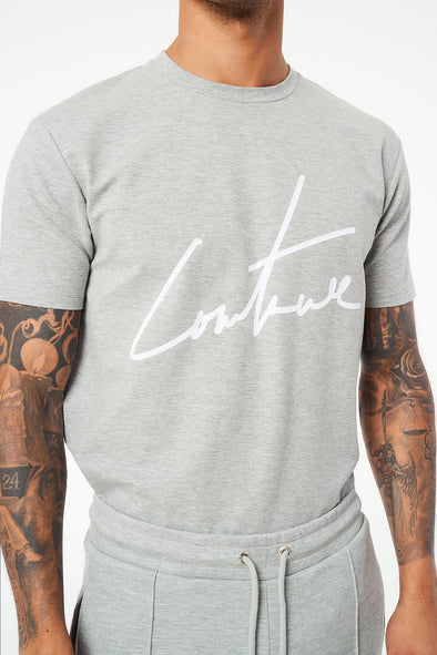 SIGNATURE FLOCK REGULAR FIT T SHIRT