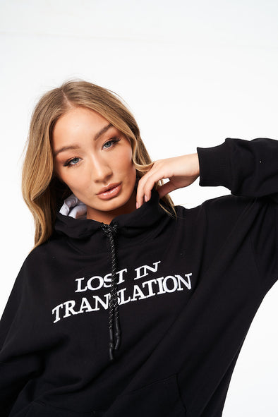 LOST IN TRANSLATION SLOGAN OVERSIZED HOODIE