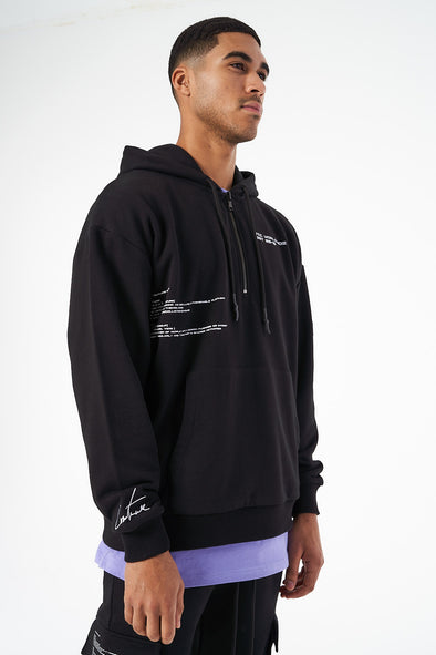 RUBBER BADGE DEFINITION QUARTER ZIP HOODIE