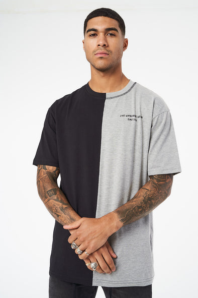 SPLIT PANEL LOGO BOX FIT T SHIRT