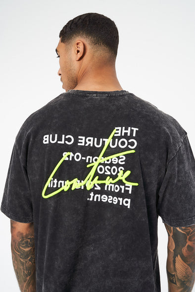 SIGNATURE SEASON ACID WASH T-SHIRT