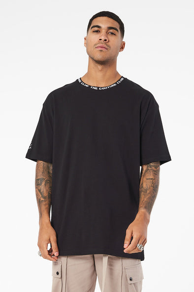 JACQUARD OVERSIZED SIGNATURE T-SHIRT