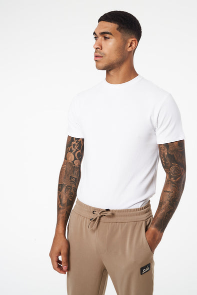 SMART RIBBED SIGNATURE T-SHIRT