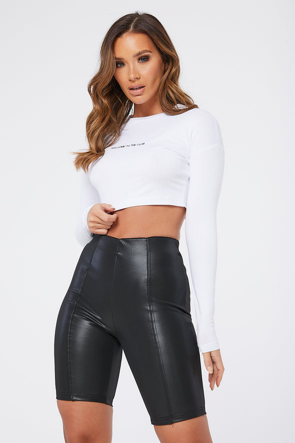 WELCOME TO THE CLUB LS CROP TOP