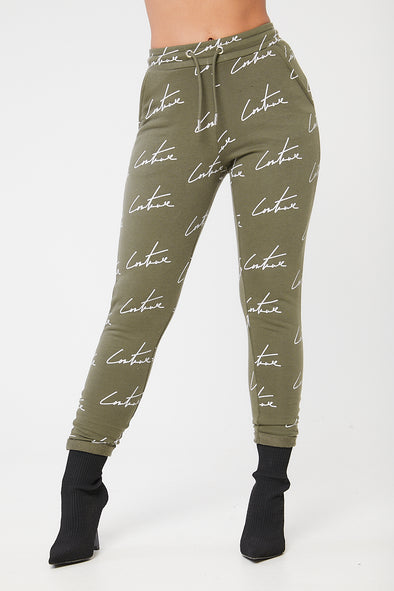 SIGNATURE REPEAT PRINT JOGGERS