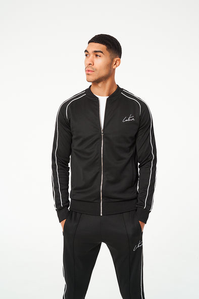 PIPED DETAIL REGULAR FIT BOMBER JACKET