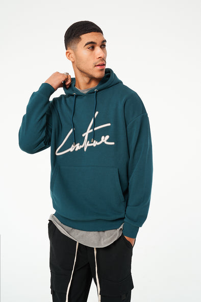 COUTURE SIGNATURE APPLIQUE OVERSIZED HOODIE