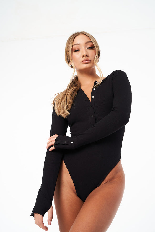 COUTURE LOUNGE LS THONG BODYSUIT