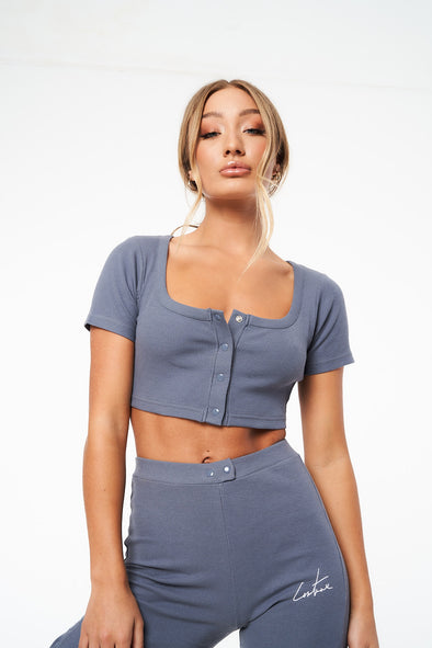 COUTURE LOUNGE SQUARE NECK CROP TOP