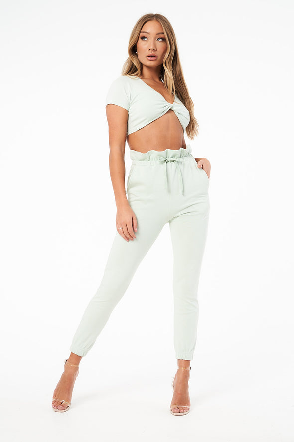 KNOT FRONT CROPPED T-SHIRT