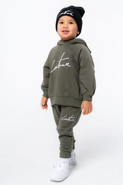 KIDS KHAKI ESSENTIAL SIGNATURE JOGGERS