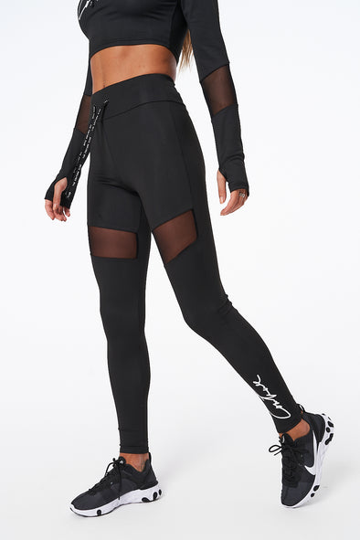 COUTURE SPORT MESH PANEL LEGGINGS