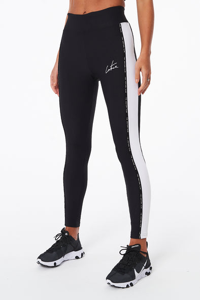 COUTURE SPORT RIB PANELLED LEGGINGS