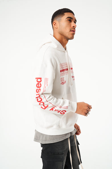 EVERYTHING IS TEMPORARY REPEAT OVERSIZED HOODIE