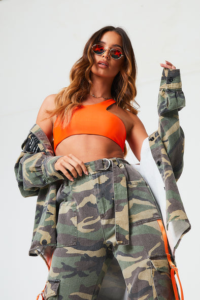 CAMO TAPED CARGO PANT