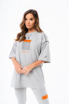 HANDLE WITH CARE OVERLOCK OVERSIZED T-SHIRT