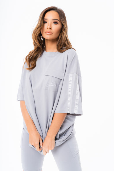 SATIN TAPED CARGO OVERSIZED T-SHIRT