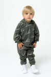 KIDS KHAKI SIGNATURE REPEAT PRINT JOGGERS