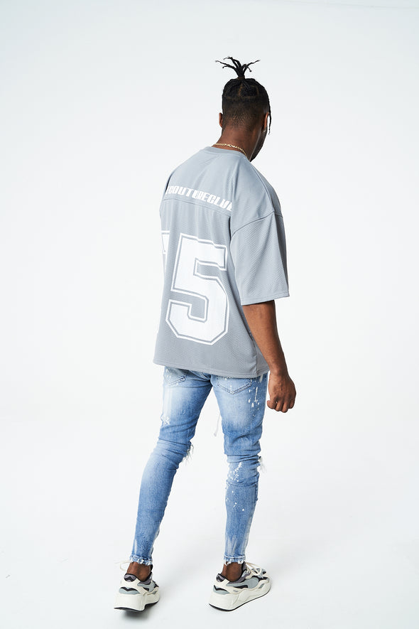 VARSITY MESH LABEL T-SHIRT