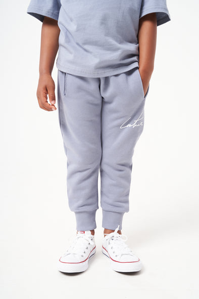 KIDS BLUE ESSENTIAL SIGNATURE JOGGERS