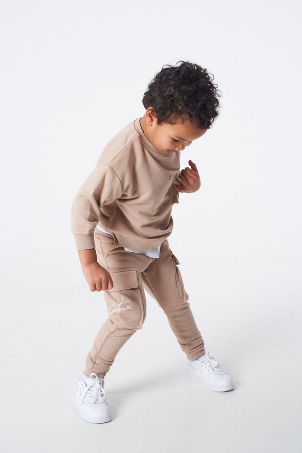KIDS 3D POCKET JERSEY CARGOS OATMEAL