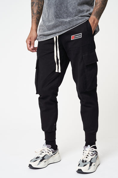 ZIP POCKET WOVEN CARGO PANTS