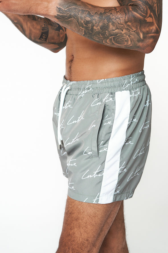 SIGNATURE REPEAT PRINT SWIM SHORTS