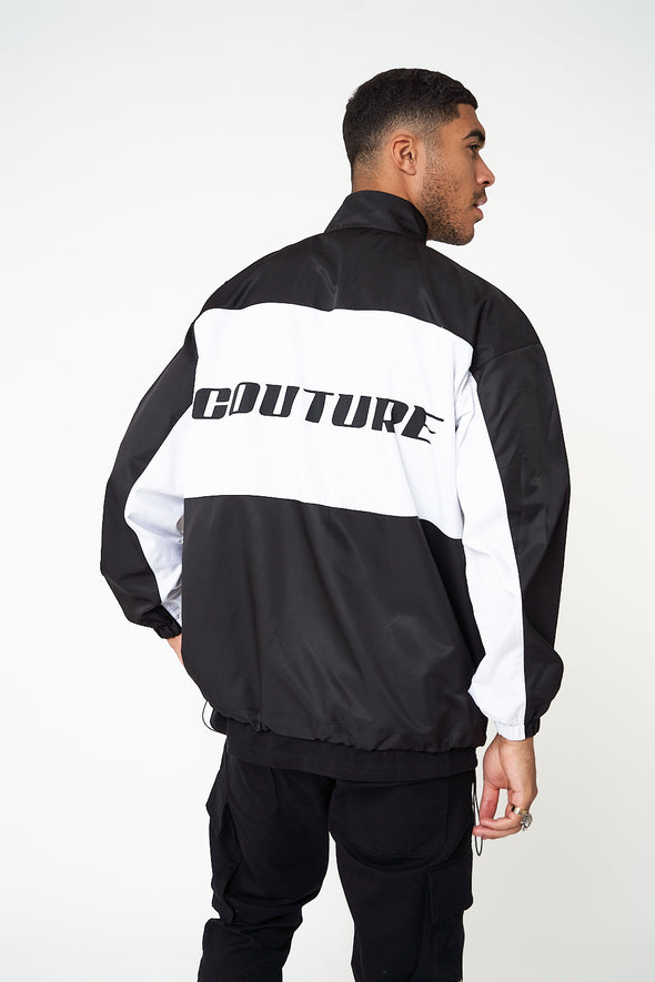 CONTRAST PANEL SHELL JACKET