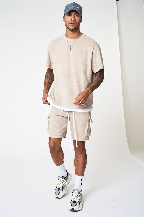 TOWELLED OVERSIZED T-SHIRT