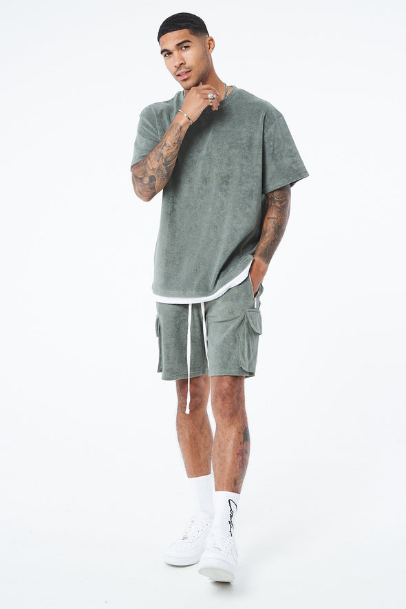 TOWELLED OVERSIZED T SHIRT