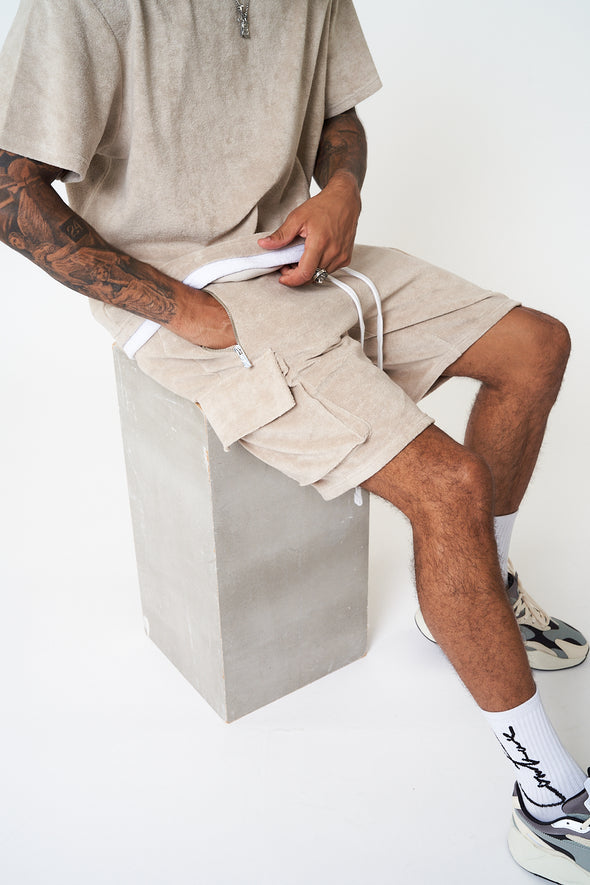 TOWELLED CARGO SHORTS