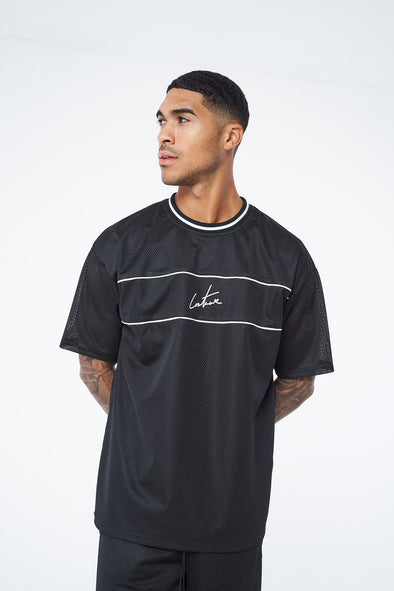 MESH SIGNATURE OVERSIZED T-SHIRT