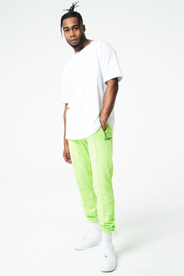 PIN TUCK RUCHED HEM JOGGERS