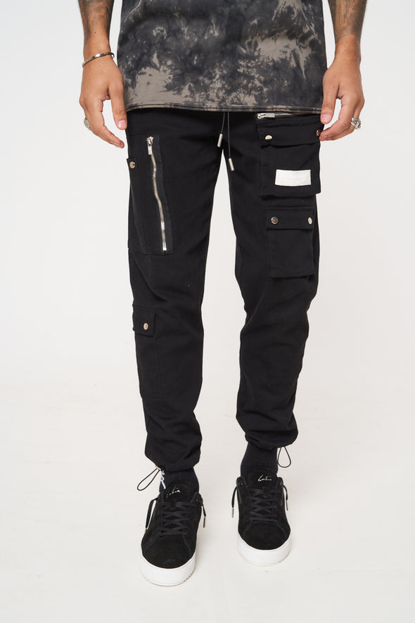 RUCHED DETAIL MULTI POCKET CARGO PANT
