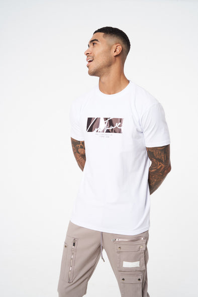 FOIL CUT OUT SIGNATURE SLIM FIT T-SHIRT