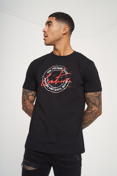 COUTURE STAMP PRINT SLIM FIT T-SHIRT